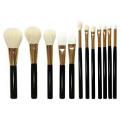 Kolight® 12pcs Professional Cosmetic Eyeliner Face Foundation Concealer Lip Cheek Makeup Brush Sets