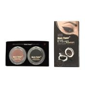 Honey Cosmetics Waterproof Black and Brown Eyebrow Powder Palette