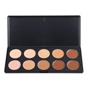 Aexge Professional 10 Colour Cream Concealer Palette Foundation Makeup Set Contour Face Contouring Kit Cover Speckle Freckle