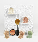 Mineral Makeup 5 pc KIT w/ FACE BRUSH Foundation Set Full Size Sheer Powder Bare Skin Cover