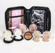 Mineral Makeup XXL KIT w/ COSMETIC CASE Full Size Set Sheer Bare Skin Powder Cover