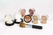 Mineral Makeup XXL KIT w/ FLAWLESS FACE BRUSH Full Size Set Sheer Bare Skin Powder Cover