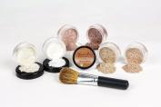 Mineral Makeup XXL KIT w/ FLAWLESS FACE BRUSH Full Size Set Sheer Bare Skin Powder Cover