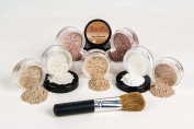 $40 SPECIAL Mineral Makeup Foundation Brush Full Size Set Sheer Bare Skin Cover Kit