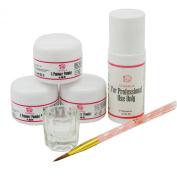 Coscelia Simple Acrylic Powder Liquid Starter Kit with Nail Art Brush