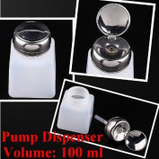 2pc 100ML Pump Dispenser Bottle Nail Art Makeup Tool J0212-1 by Bay Area Outlet