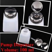 2pc 100ML Pump Dispenser Bottle Nail Art Makeup Tool J0212-1 by Bay Area Outlet