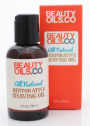 All Natural Restorative Shaving Oil (60ml) - Moisturises and Protects Against Nicks, Cuts and Razor Burn