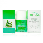 Best Eye Gel 100% Organic - For Wrinkles, Crows Feet, Puffiness, Under Eye Bags, Dark Circles - Contains Peptides, Matrixyl 3000, Hyaluronic Acid, Green Tea, Cucumber, Vitamin E - Phytosil - 50ml