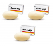 3 x STIEFEL ACNE AID SOAP BAR DEEP PORE CLEANSING PIMPLE OILY SKIN FACE AID 100 G.