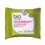 Bio Secure 100% Organic Cotton Make-Up Remover Wipes for All Face Types With Aloe Vera and Oil of Argan - 25 Cotton Wipes
