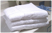 GHP 300Pcs 30cm x 30cm White 100% Cotton Hotel Washcloth
