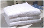 GHP 300Pcs 30cm x 30cm White 100% Cotton Hotel Washcloth