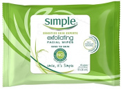 Simple Exfoliating Facial Wipes, 25 Count