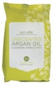 Acure Organics - Argan Oil Cleansing Towelettes For Face & Body Unscented - 30 Towelette