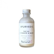 Ayurvedic Facial Cleaner and Mask--Cleansing Grains--Facial Mask--Neem--Sandalwood--Essential Oils--Clarify and Brighten Skin