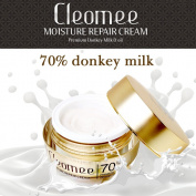 Cleomee Moisture Repair Cream 50ml, 70% Donkey Milk, Anti-wrinkle, Whitening