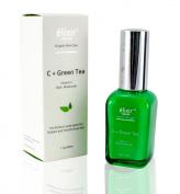 Elixir Naturel Vitamin C + Green Tea Daily Moisturiser - Organic Paraben Free Anti Ageing Formula - Best Vitamin C Hyaluronic Acid Cream for Treating Wrinkles, Ageing and Dark Spots