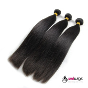 Uniwigs® Brazilian Virgin Human Hair Extension Natural Straight Mixed Length 36cm 41cm 46cm 3pcs 300g Per Lot Unprocessed Natural Colour