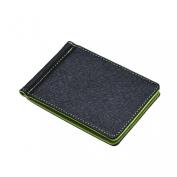 Towallmark(TM) Mens Leather Silver Money Clip Slim Wallets Holder