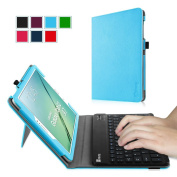 Fintie Samsung Galaxy Tab S2 9.7 Keyboard Case - Slim Fit PU Leather Stand Cover with Premium Quality [All-ABS Hard Material] Removable Wireless [Long Life Battery] Bluetooth Keyboard, Blue