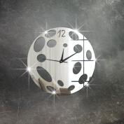 funlife 41cm x 41cm 3d Mirror Wall Clock Boy's Room Decoration