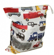 LOVE MY(TM) Solid Baby Wet and Dry Cloth Nappy Bag,Car Printed
