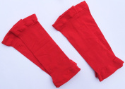 Shin Guard Sleeves for Soccer (4 Sleeve Pack) (Red) by CrossBones Sports