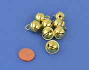 8 Gold 15mm Cat Bell Style Jingle Bells for Crafts