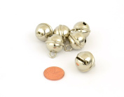 6 Silver 19mm Cat Bell Style Jingle Bells for Crafts