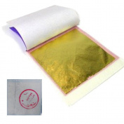 100 Gold Leaf Sheets 24k Gilding, Edible, Suitable for Art, Crafts, Sculptures, Design Projects & Cake Decorations, Size of each Sheet