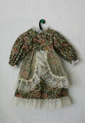"Porcelain Doll Cloth,Coton Dress Collar W. 6 cm, Shoulder W. 9 cm, Sleeve L. 12 cm, Cuffs W .4 cm, Bust W. 9 cm, Overall L. 25 cm..,May Fit 16 "" Doll"