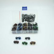 100pc 12mm Mix Colour Plastic Safety Eyes for Bear, Doll, Puppet, Plush Animal and Craft One Box