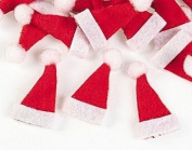 24 Mini Santa Hats for Crafts