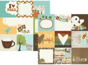 Simple Stories Pumpkin Spice 4x4 Element Scrapbook Paper