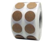 2,000 Brown Natural Kraft Paper Dot Stickers 2.5cm Round Circle Colour Coding Labels
