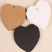 AUCH 1Pcs Delicate Heart Wave Shape Hang Tag /Small Label/bookmark,Brown