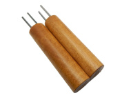 Double Hole Paper Bead Roller, Set of 2 Sizes, 0.2cm and 0.2cm Slotted Pins