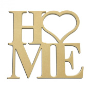 60cm Home Heart w/ Insert Options Times New Roman Unfinished DIY Wooden Craft Cutout to Sell Stacked