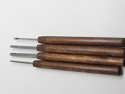 4pc Ramelson USA U Micro Woodcarving Tools Handcrafted Similar to Dockyard