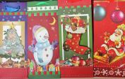 4 Christmas Wine, Bottle Gift Boxes 30cm X 11cm X 15cm