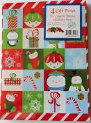 4 Christmas Gift Boxes 28cm X 20cm X 3.2cm