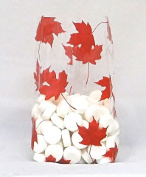 Maple Leaf Cello Bags, Pack of 25 Great for Fall and Thanksgiving