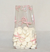 Hope Ribbon Cello Bags, Pack of 25 Great for Breast Cancer Awareness