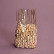 Vertical Stripe Gold Cello Bags, Pack of 25 Great for Christmas and Winter time