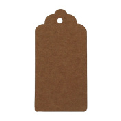 100pcs Blank Brown Kraft Paper Wedding Clothing/ Luggage/ Garment Tag Gift Wrap Tags