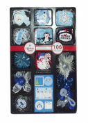 106 Christmas Gift Wrap Trims Set, Assorted - Styles/Colours Vary