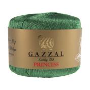 Gazzal Princess 50g Silk Lace Yarn, 100% Silk Rayon, Green