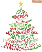 Christmas Word Tree Counted Cross Stitch Kit