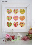 colourful hearts cotton thread 14 ct 142x142 stitch,9 colours 35x35cm counted cross stitch kits